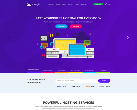 HostSite - Hosting and Technology HTML Template