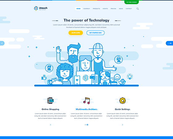 Utouch digital agency wordpress theme