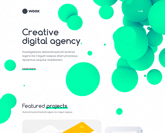 Woox Creative - Digital Agency Portfolio HTML Website Template