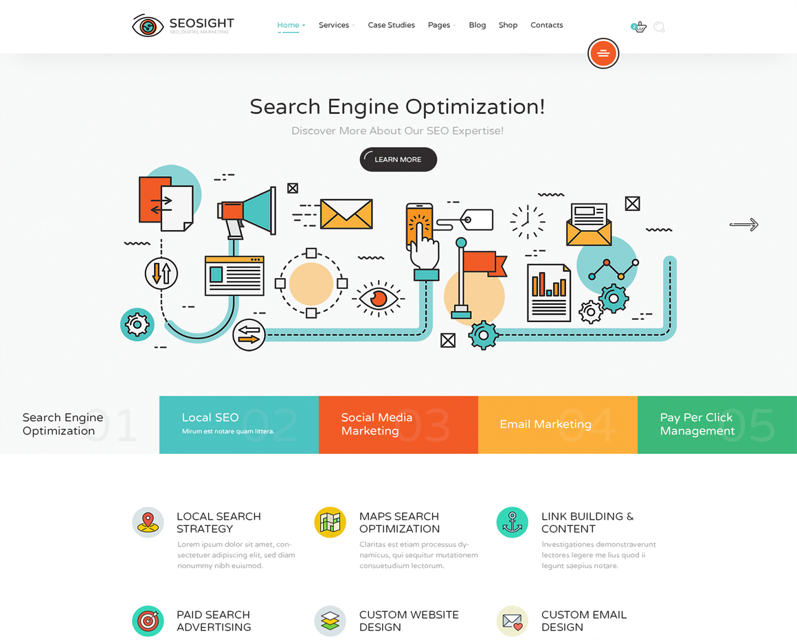 SeoSight - SEO, Digital Marketing Agency Template