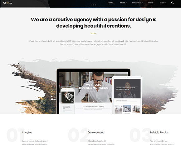 Osvald - Responsive Multi-Purpose Template