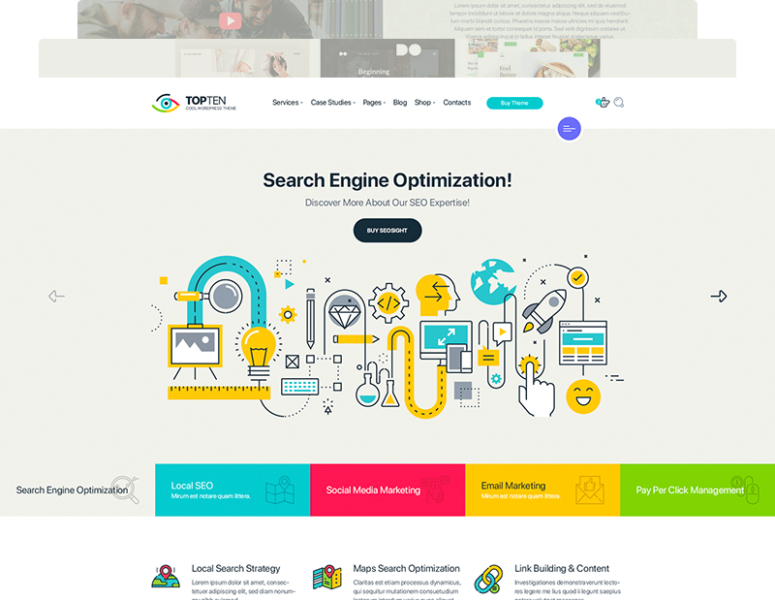 TopTen – Digital SEO Agency HTML5 Template