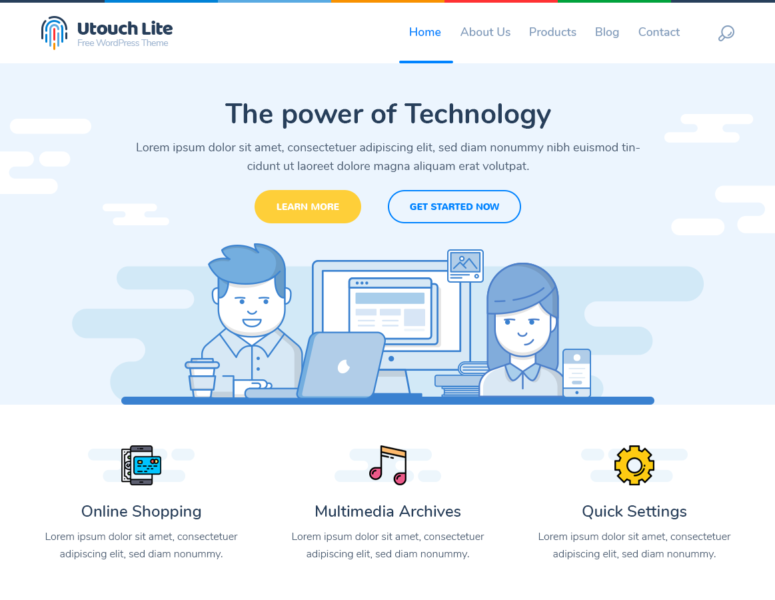 Utouch Lite WP Theme