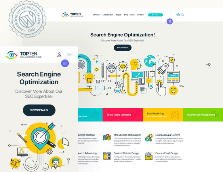 TopTen – Digital SEO Agency WP Theme